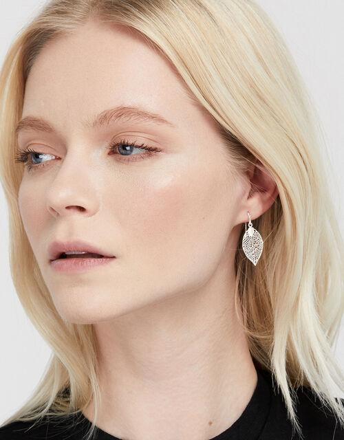 Filigree Leaf Drop Earrings, , large