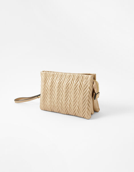 Paige Pleated Cross-Body Bag Gold, Gold (GOLD), large