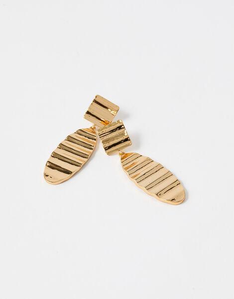 Reconnected Crinkle Short Drop Earrings, , large