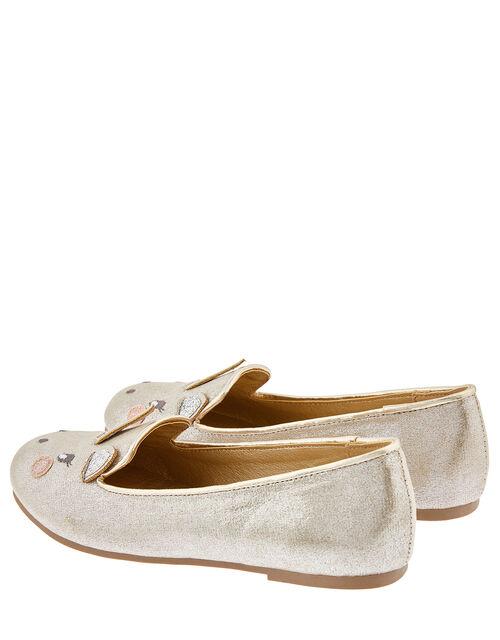 Metallic Unicorn Slipper Shoes, Gold (GOLD), large