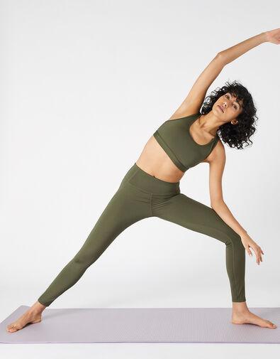 Full-Length Gym Leggings Green, Green (KHAKI), large