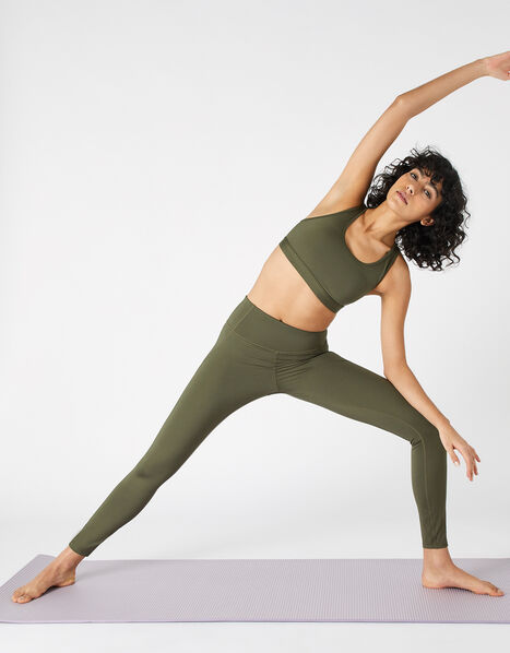 Full-Length Gym Leggings Green, Green (KHAKI), large