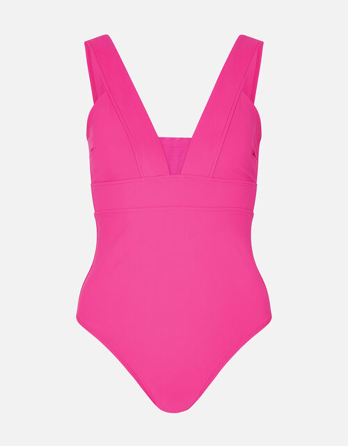 Lexi Plunge Shaping Swimsuit , Pink (PINK), large