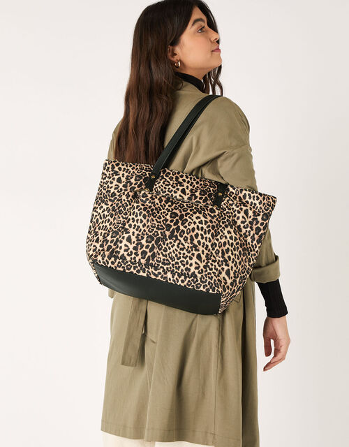 Tilly Leopard Print Tote Bag, , large