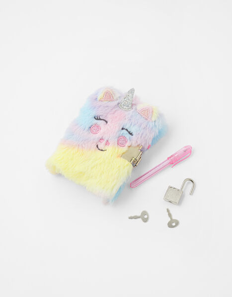 Mini Fluffy Unicorn Notebook, , large