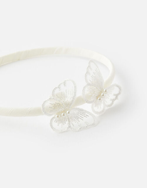 Lace Butterfly Headband, , large