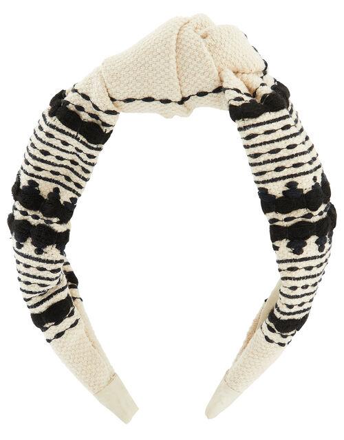 Aztec Pattern Wide Knot Headband, , large
