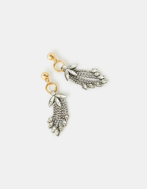 Crystal Cupchain Waterfall Earrings, , large