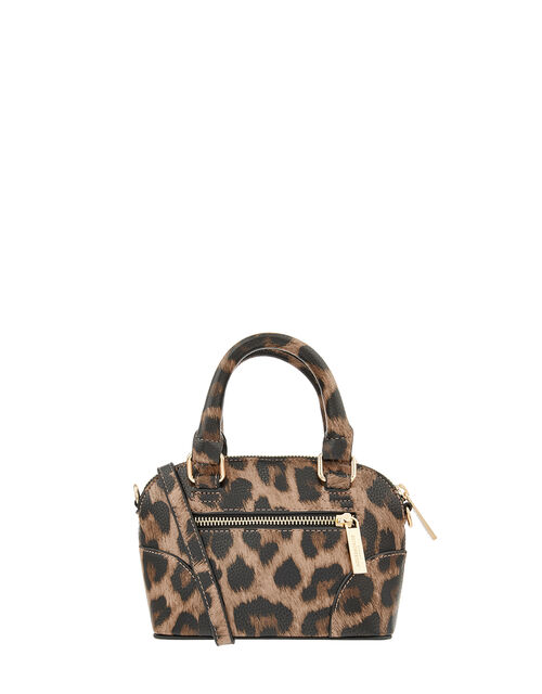 Cross-Body Kettle Bag, Leopard (LEOPARD), large