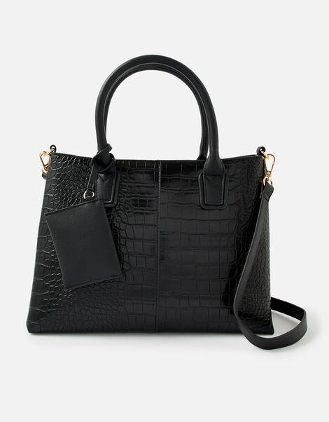 Caroline Handheld Bag Black, Black (BLACK), large