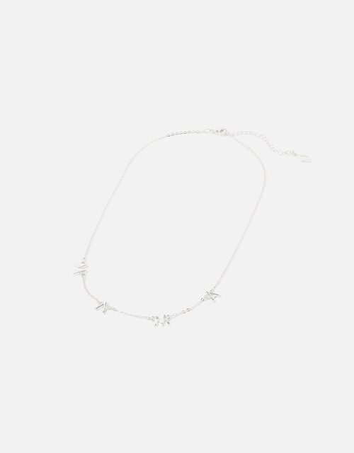 Mama Pendant Necklace, Silver (SILVER), large