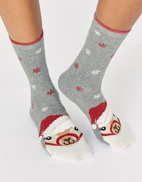Fa-La-La Llama Face Socks, , large