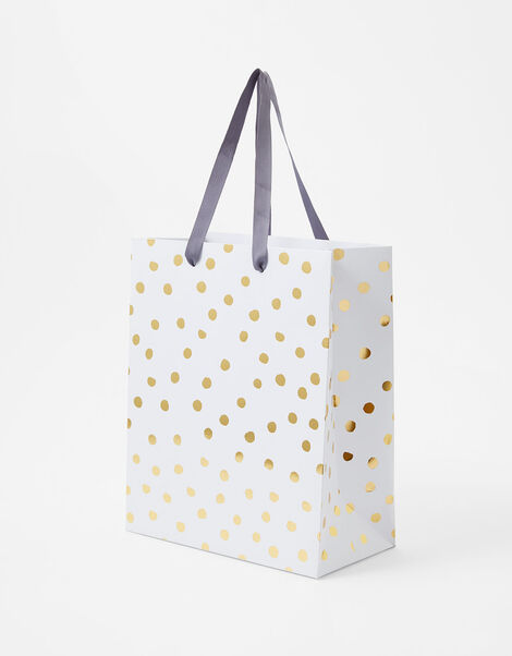 Gold Spot Medium Gift Bag, , large