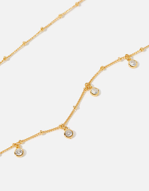 Gold-Plated Droplet Necklace, , large