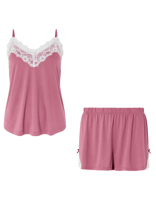 Teya Pyjama Vest and Shorts Set, Pink (PINK), large