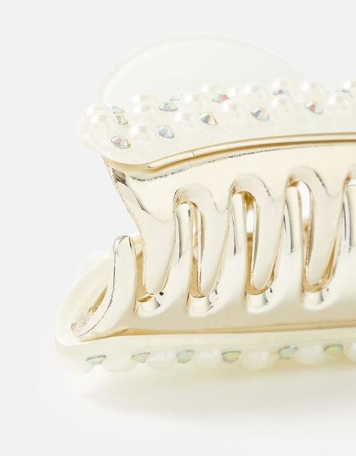 Diamante Encrusted Bulldog Clip, , large