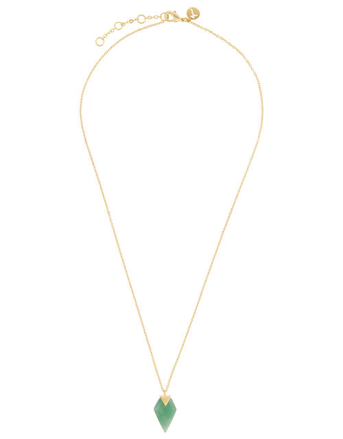 Healing Stones Gold-Plated Aventurine Necklace, , large