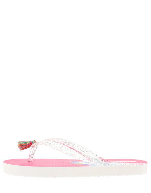 Zoe Zebra Glitter Flip Flops, Multi (BRIGHTS-MULTI), large