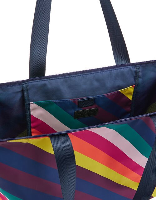 Rainbow Print Shopper Bag, , large