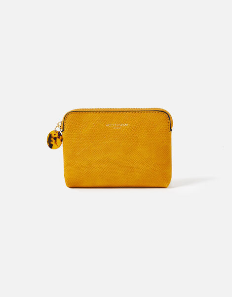 Resin and Reptile Coin Purse Yellow, Yellow (OCHRE), large