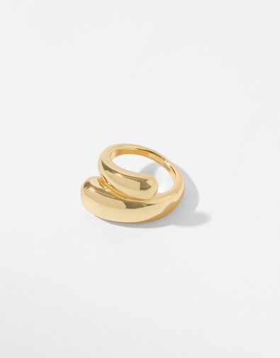 Gold-Plated Pebble Ring Gold, Gold (GOLD), large