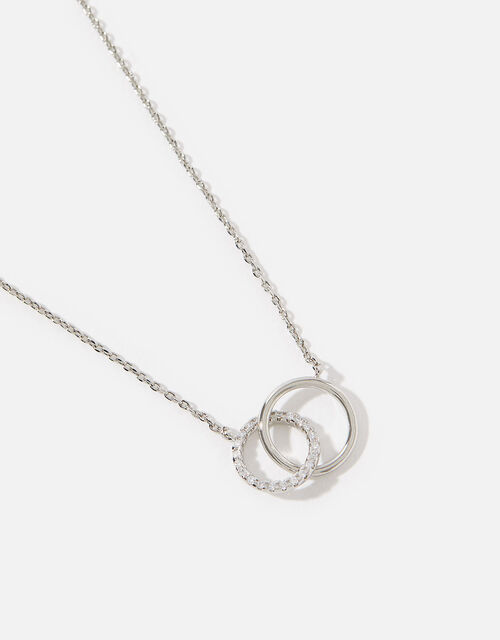 Platinum-Plated Eternity Link Necklace, , large
