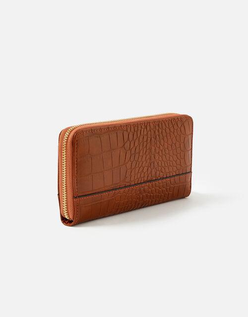 Large Zip Around Wallet, Tan (TAN), large
