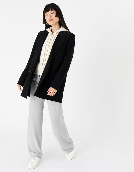 Lounge Knit Zip Hoody  Cream, Cream (CREAM), large