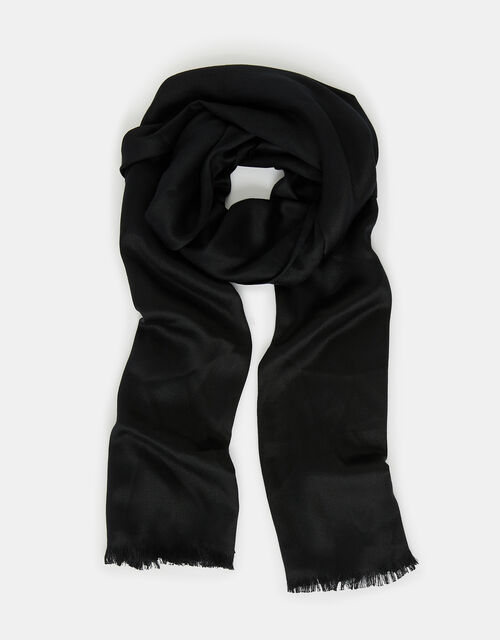 Plain Woven Stole, Black (BLACK), large