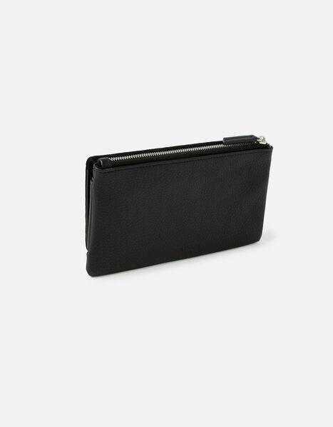 Appleton Suedette Wallet Black, Black (BLACK), large