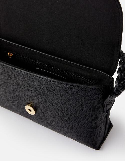 Pia Plaited Shoulder Bag , Black (BLACK), large