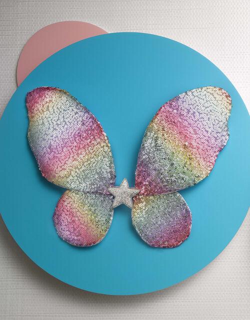 Sequin Rainbow Fairy Wings, , large