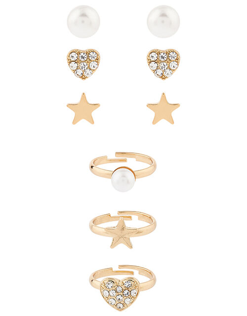 Sparkle Star, Heart and Pearl Jewellery Set, , large