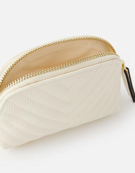 Zip Pouch Bag Cream, Cream (CREAM), large