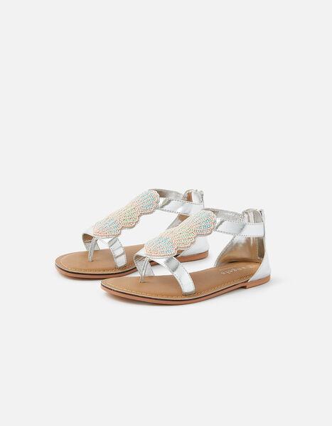 Shell Beaded Sandals Multi, Multi (BRIGHTS-MULTI), large