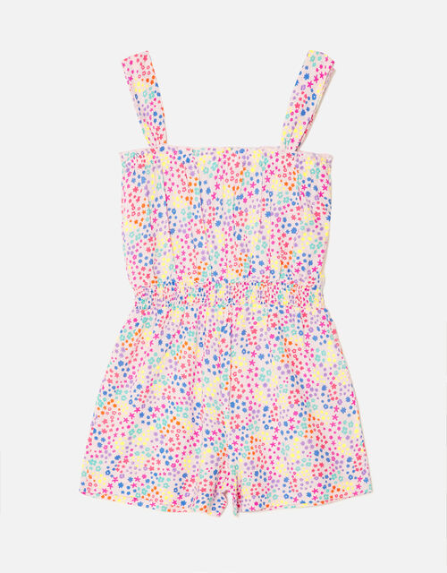 Ditsy Floral Print Playsuit, Multi (BRIGHTS-MULTI), large