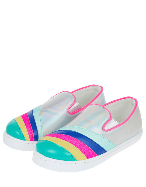 Rainbow Stripe Pumps, Multi (BRIGHTS-MULTI), large