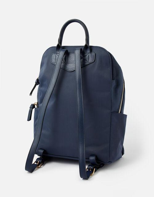 Nell Nylon Backpack, Blue (NAVY), large