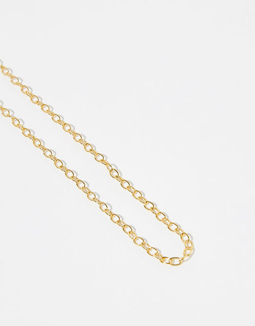 Gold Vermeil Paperclip Chain Necklace, , large