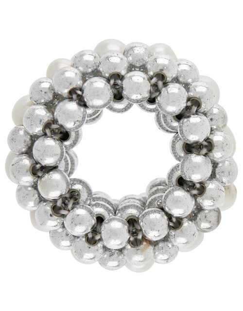 Pearl and Metallic Bead Hair Band, , large