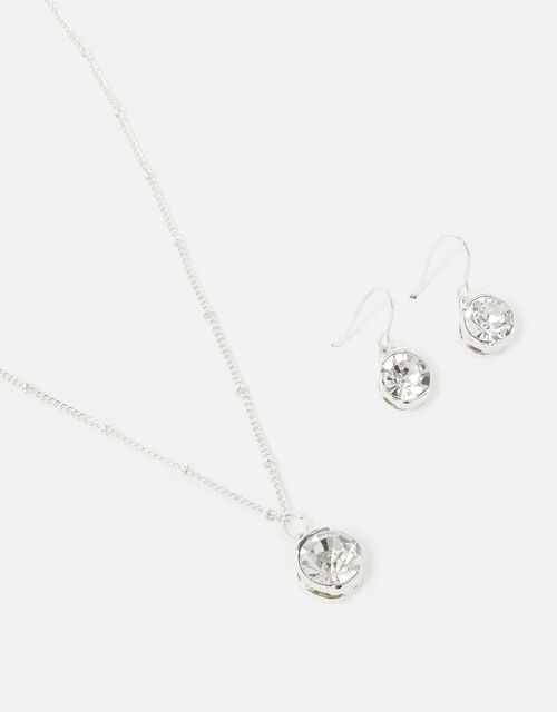 Berry Blush Pendant Necklace and Earring Twinset, , large