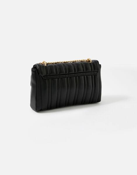 Carrie Chain Quilted Shoulder Bag  Black, Black (BLACK), large