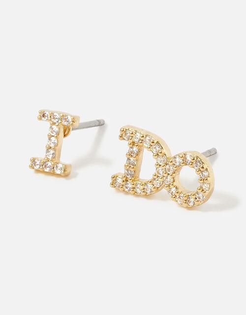 I DO Stud Earrings, , large