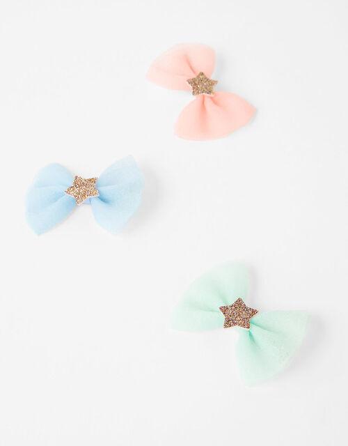 Star Bow Hair Clip Set, , large