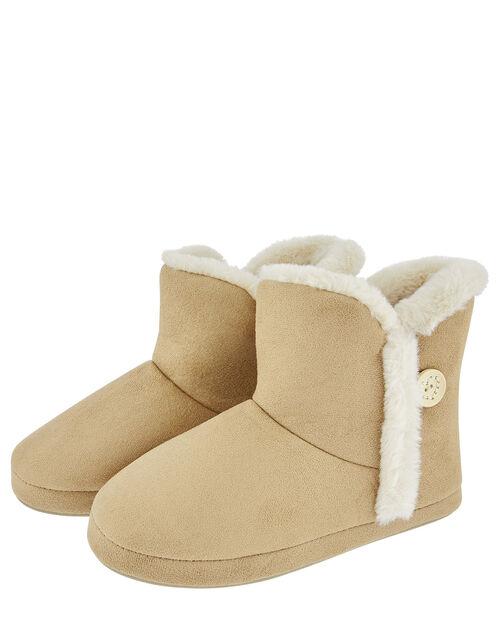 Suedette Slipper Boot, Tan (TAN), large