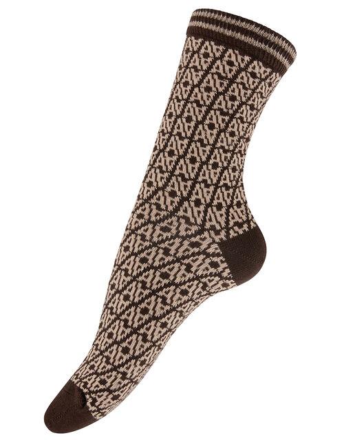 Monogram Ankle Socks, , large