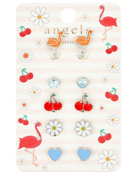 Flora Flamingo Clip-On Earring Set, , large