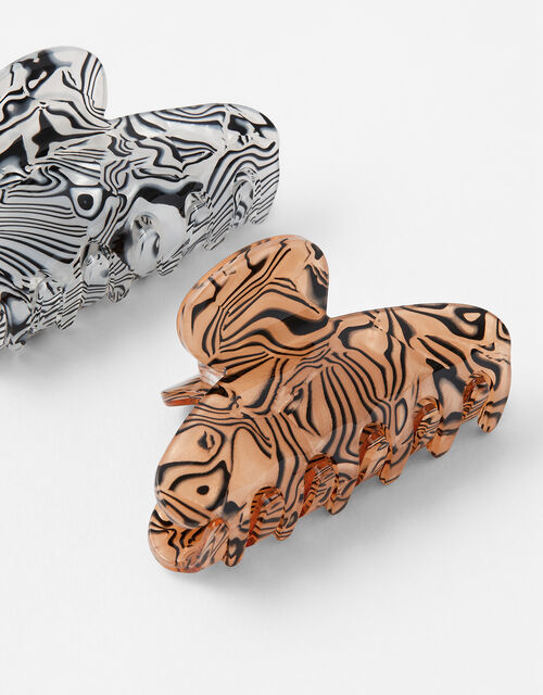 Marbled Acrylic Bulldog Clips, , large