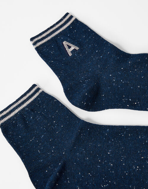 Initial Ankle Socks - A, , large