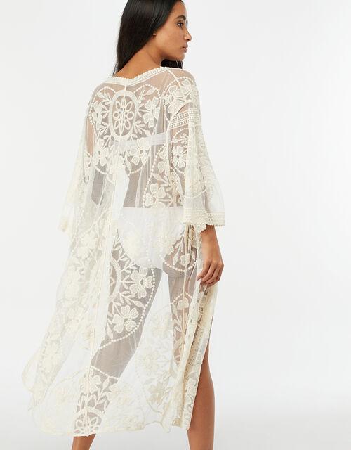 Jaki Long Lace Kimono, Cream (CREAM), large